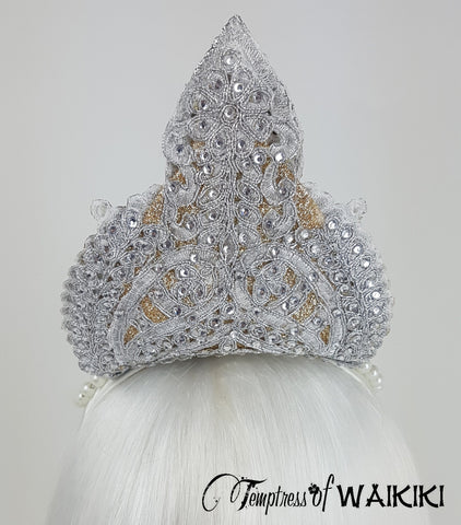 back of Gold & Silver Crown Headdress