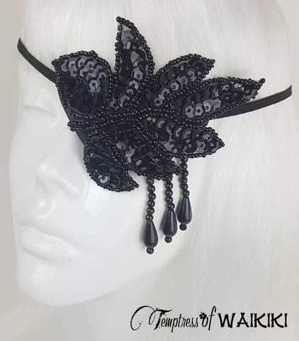 Black Sequin Eyepatch Eye Cover