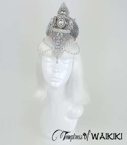 Gold & Silver Crown Headdress, Bridal Headpieces UK