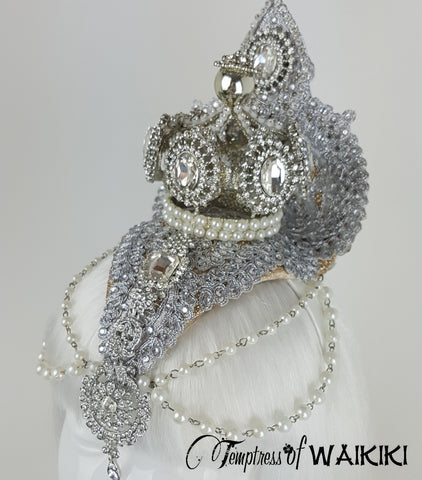 Gold & Silver Crown opulent Headdress UK