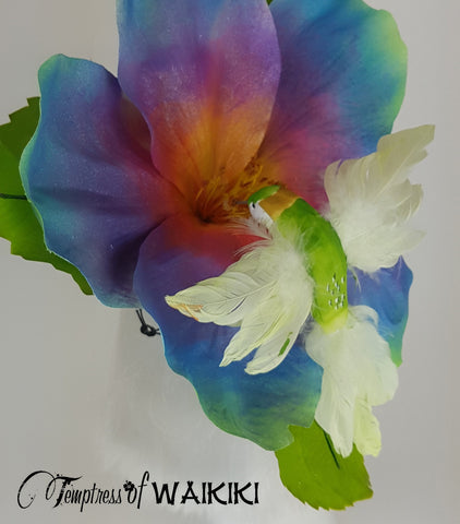 Giant Rainbow Flower & bird Hat for sale UK