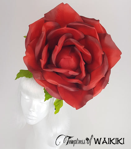 Giant Red Rose Hat, headpieces for sale UK