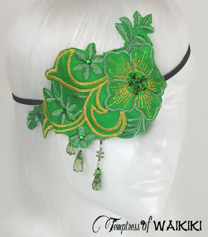 Green Lace Eyepatch
