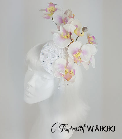 White Orchid Fascinator for sale UK