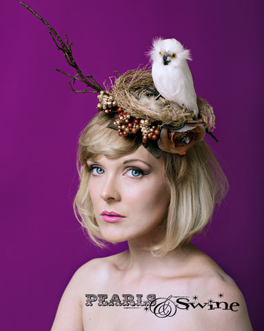 "Owl Birds Nest Headpiece ""Chouette"""