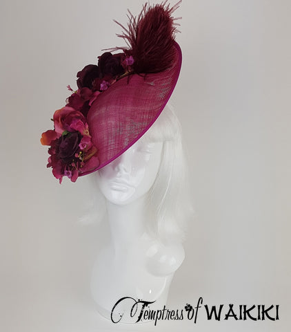 Pink Flower Royal Ascot unique Hat