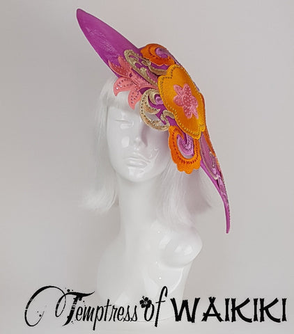 Pink & Orange Ladies Hat, Royal Ascot UK
