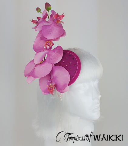 Pink Orchid Fascinator for sale uk