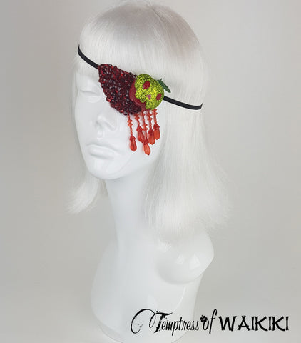 snow white poison apple glitter eyepatch