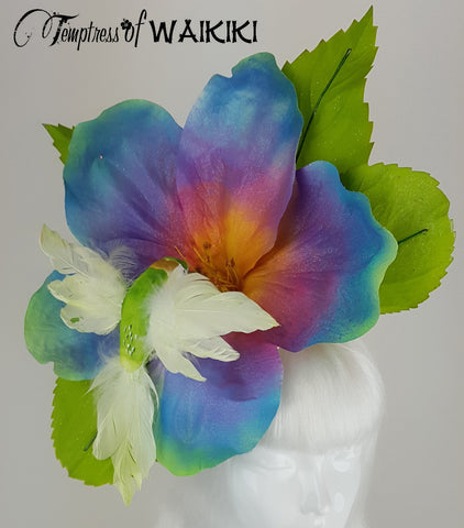 Giant Rainbow Flower & Hummingbird Hat, for Sale UK
