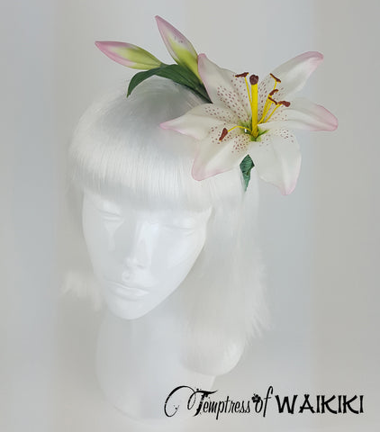 Vintage Lily Flower Headband, Bridal hair accessories