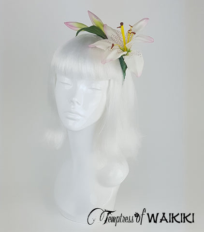 Vintage Lily Flower Headband, Bridal headpieces UK