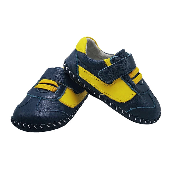 Little Chic Sneakers Harrison in Navy and Yellow