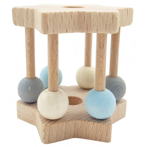 Natural Star Rattle in Blue