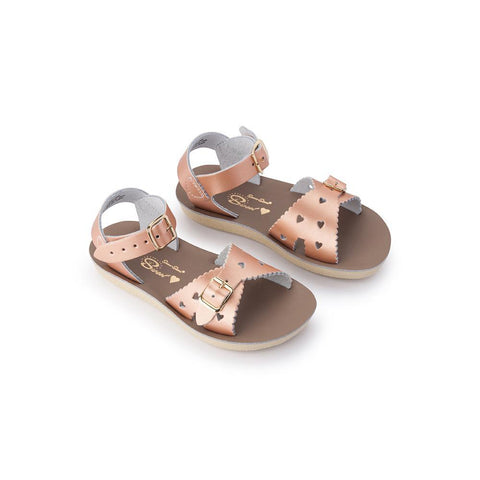 Sun-San Sweetheart Sandal in Rose Gold