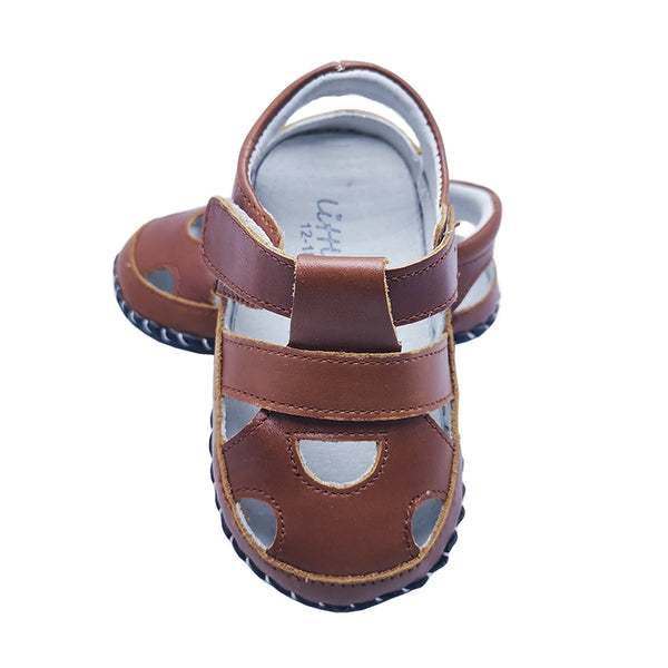 Little Chic Infant Sandals in Chestnut Brown
