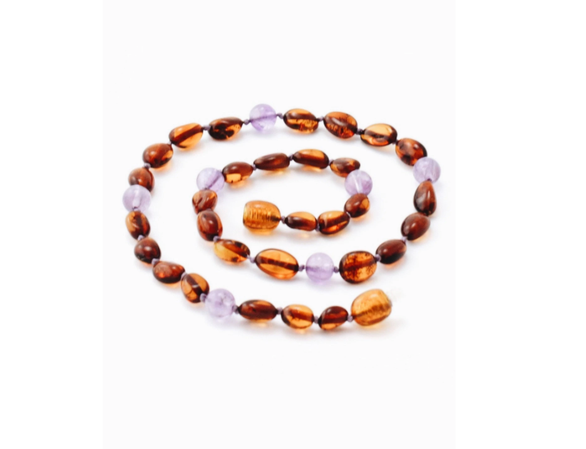 Amber Necklace - Amethyst