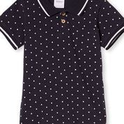 Spot Polo Shirt in Navy