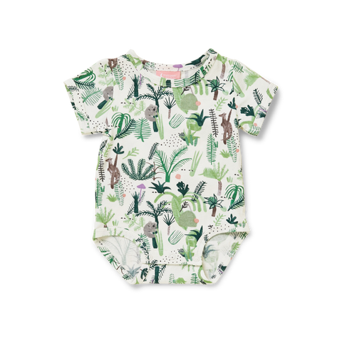 Fern Gully Short Sleeve Bodysuit - Lucky Last! (Size 6-12m) - Find it at RFDS Base Cafe