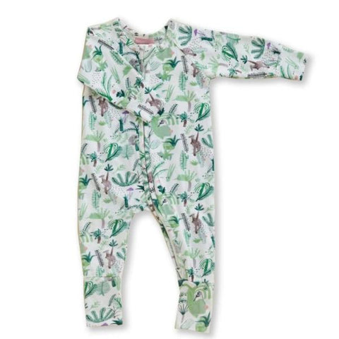 Fern Gully Long Sleeve Zip Suit - Lucky Last! (Size 6-12m)