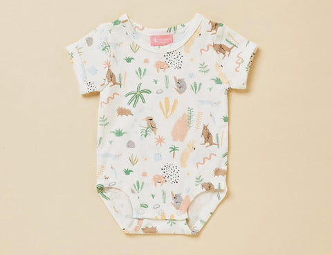 Outback Dreamers Short Sleeve Bodysuit - Lucky Last! (Size NB/0000)
