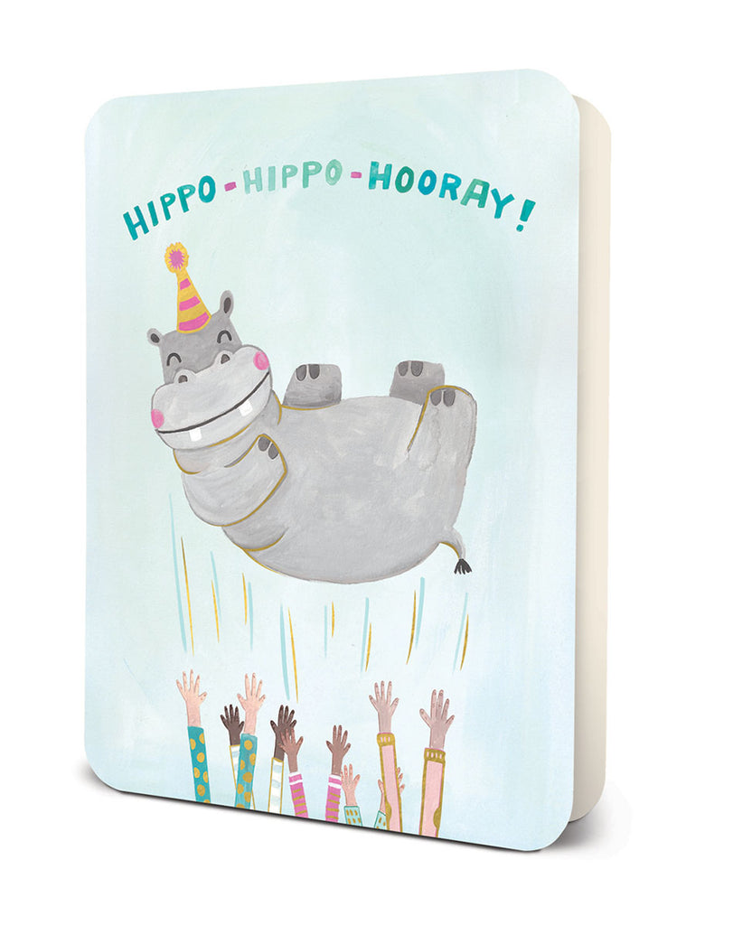 Hippo-Hippo Hooray Greeting Card