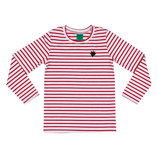 Long Sleeve T-Shirt in Red Stripes