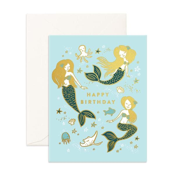 Happy Birthday Mermaids Greeting Card - Lucky Last!
