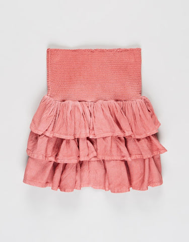 Supple Washed Skirt in Pink