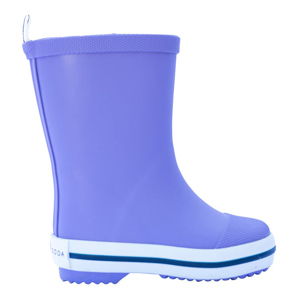 Kids Rubber Gumboots in Purple