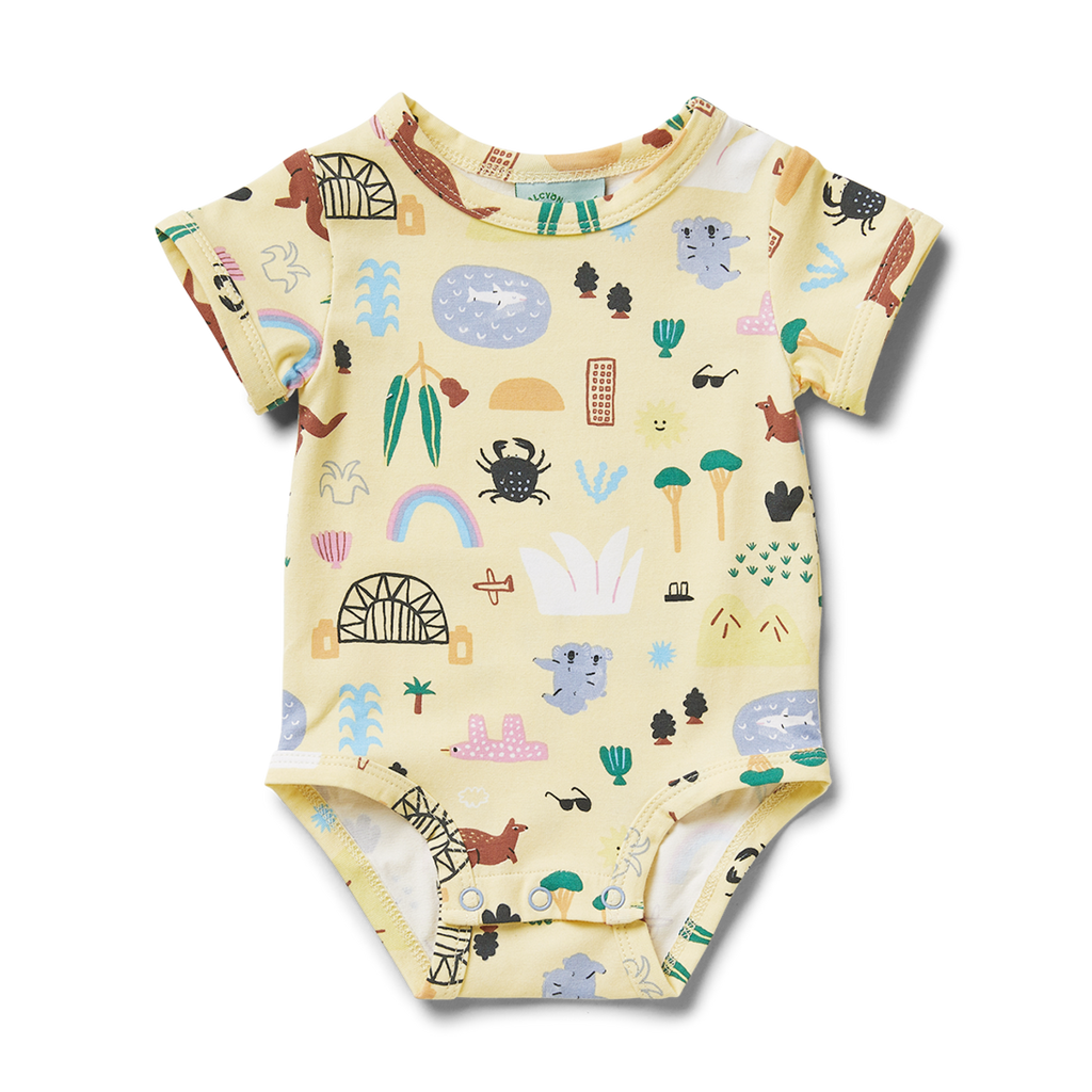 Sun City Short Sleeve Bodysuit