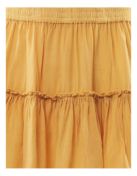 Supple Washed Skirt in Honey Gold