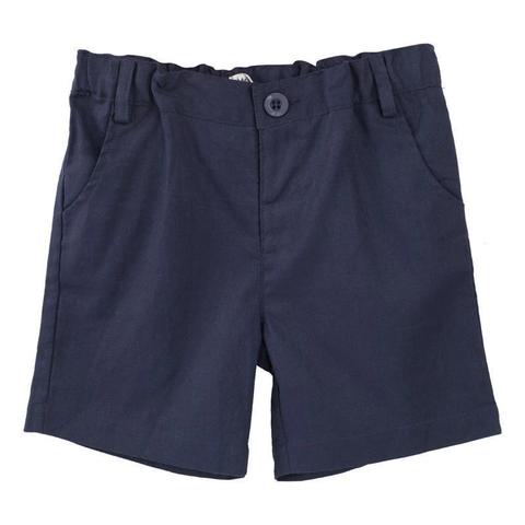 Toby Linen Shorts in Navy