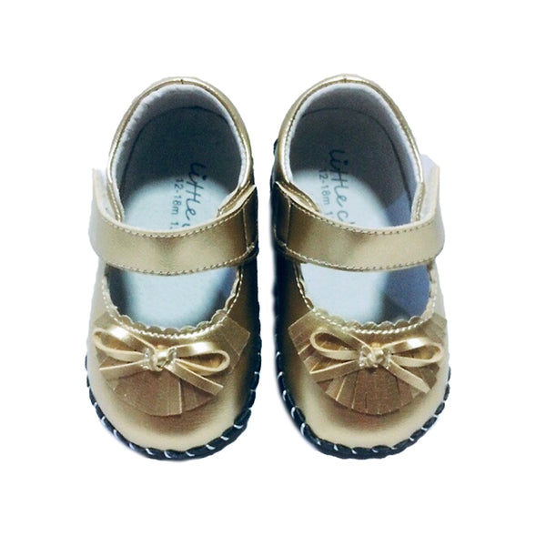 Little Chic Tassel Mary Jane's in Gold