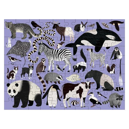 Animal Kingdom 100 Piece Double-Sided Puzzle (6y+)