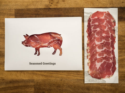 """Seasoned Greetings"" Coppa Christmas Card"