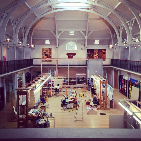 Dovecot Studios working on a commission by the Clothworkers Company