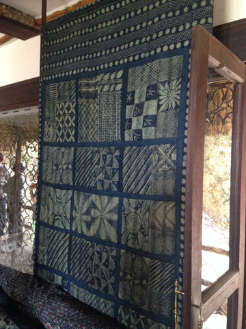 Indigo Yoruba cloth, The African Heritage House, Nairobi