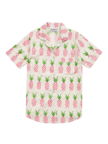 Women's Pineapple Pyjama Short Sleeve Shirt
