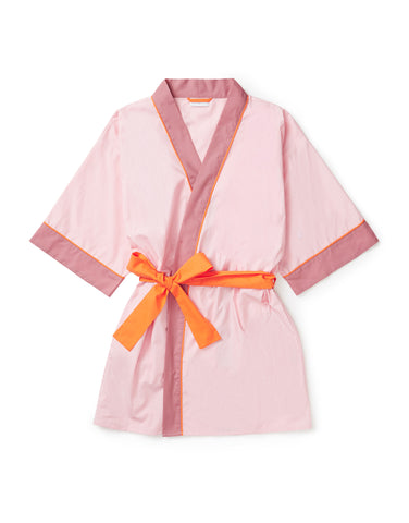 Pale pink, tangerine and rose robe