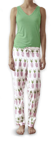 Mint Green Vest & Pineapple Trousers Set