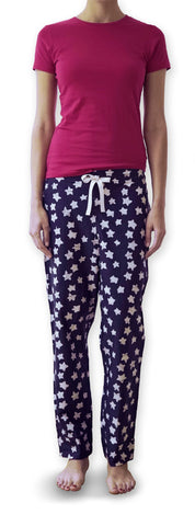 Pink Tshirt & Star Trousers Set