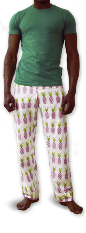 Men's Green T & Pineapple Trousers Set