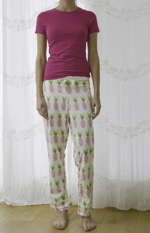 Pink T & Pineapple Trousers Set