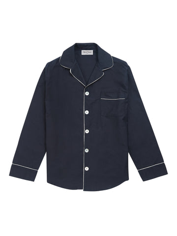 Men's Navy Pyjama Shirt