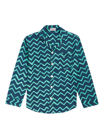 Men's Wave Pyjama Shirt