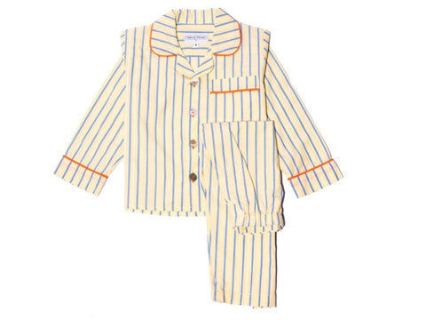 Yellow and blue stripe set
