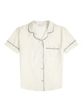 Women's Ivory Short Sleeve Pyjama Shirt