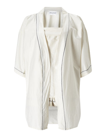 Ivory Short Lounge Robe