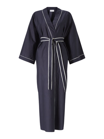 Navy Long Lounge Robe